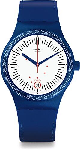 Swatch Reloj Digital para Hombre de Automático con Correa en Silicona SUTN401