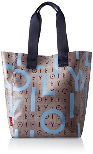 Oilily - Lori Shopper Lvo, Borse a secchiello Donna Grigio (Grey)