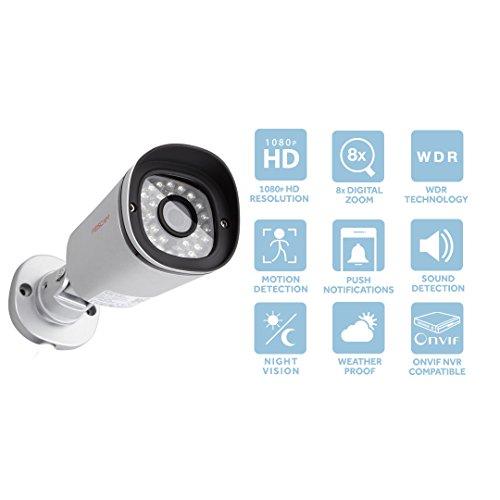 Foscam FI9900P V1 (con slot per microSD) – Telecamera IP Wi-Fi HD 1080p (2.0 Megapixel) da esterno (IP66), Visione notturna 20m, Motion Detection con E-mail Alert, ONVIF, P2P Plug & Play