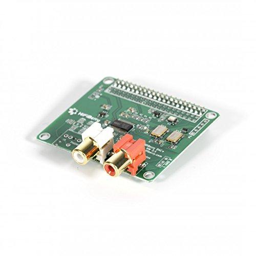 HiFiBerry DAC+ Pro - High End Soundkarte für Raspberry Pi 2 Modell B/B+ / A+ mit Cinch Anschlüssen Low-voltage-audio