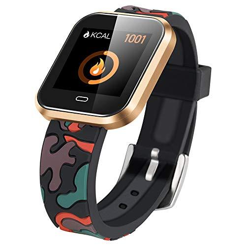 ZYWTZ® Bluetooth 4.0 Sport Intelligente Uhr TFT-Bildschirm Herzfrequenz-Test Schlafüberwachung Soziales Teilen Eingehender Anruf Fernfotografie Wasserdichte Smartwatches,C