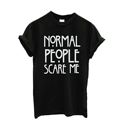 Preisvergleich Produktbild feiXIANG mode frauen Damen kurze ärmel locker baumwoll t - shirt. (XXL,  Schwarz)