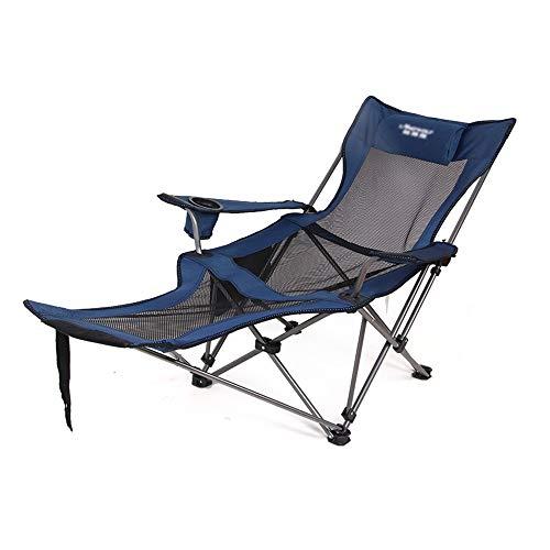 Camping Liegestuhl, tragbarer Multifunktions-Liegestuhl für das Büro im Innenbereich Nap Lazy Lounge Chair Garten Strand Camping Jagd Angeln Picknick Grill Licht Camping Stuhl Freizeitstuhl -