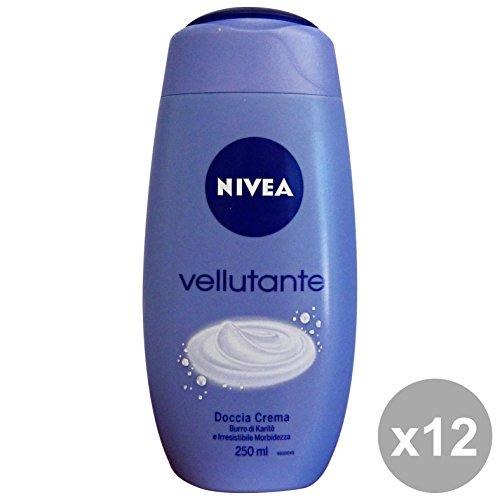 Nivea Lot de 12 douche vellutante 250 ml. Les savons et cosmétiques