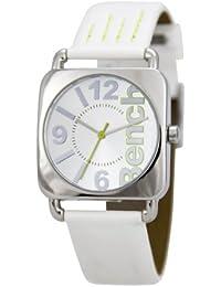 Bench BC0236SLWH - Reloj de mujer de cuarzo, correa de plástico color blanco