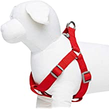 Umi. by Amazon - Classic Solid Color Dog Harness, Chest Girth 67cm-98cm, Red, Large, Adjustable Harnesses for Dogs