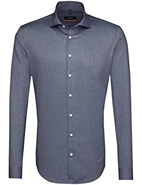 SEIDENSTICKER Herren Hemd Slim 1/1-Arm Bügelleicht Uni / Uniähnlich City-Hemd Kent-Kragen Kombimanschette weitenverstellbar