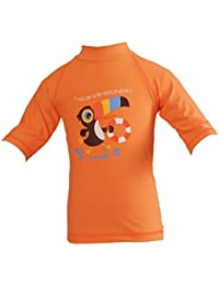 Piwapee - Top Lycra Anti UV UPF50+ Mandarine Toucan