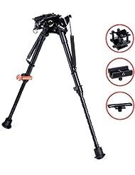 Zeadio pivote giratorio ajustable bípode con 3 adaptadores para Rifle Pistola de aire (9 a 13 pulgadas) [1 año de garantía], ZBP-012