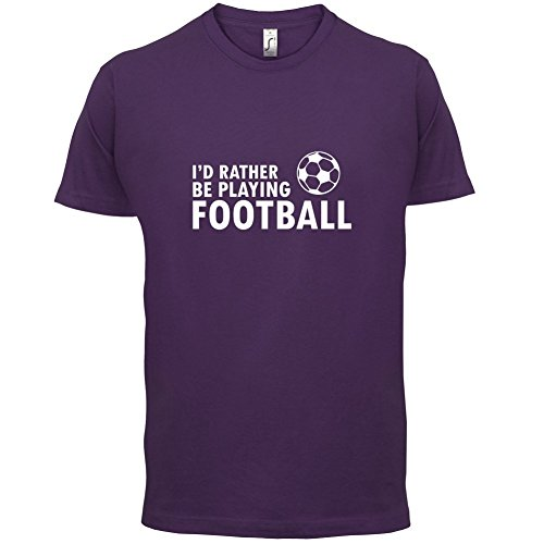Ich Würde Lieber Fussball Spielen - Herren T-Shirt - 13 Farben Lila