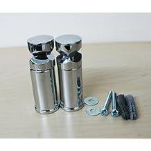 Sigma - Soportes para toalleros de barra tipo radiador curvo o plano (cromo)