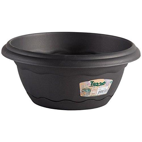 Pot rond a suspendre Ø 30cm avec soucoupe intégrée - Anthracite
