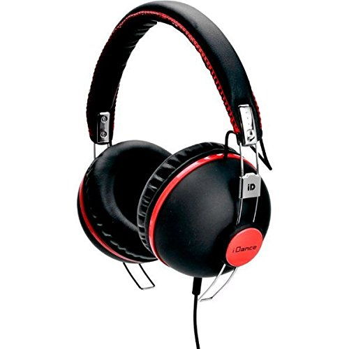 iDance Hipster706 Casque haute pression acoustique (Noir mat/rose)
