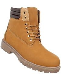 00336b7e127d Schuhcity24 Damen Herren Unisex   leicht Gefütterte Stiefeletten   Outdoor  Worker Boots   Profilsohle Winterschuhe