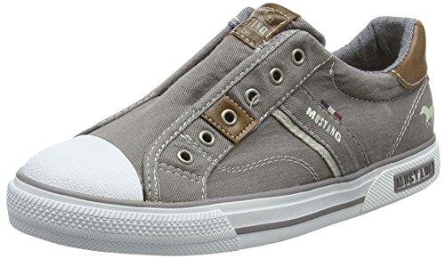 Mustang Unisex-Kinder 5046-401-2 Slip on Sneaker, Grau (Grau), 36 EU (Sneakers On Mädchen Slip)