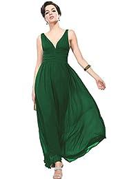 Ever Pretty Damen V-Ausschnitt Lange Chiffon Abendkleider Festkleider 09016