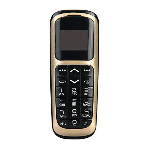 Teléfono de Banda cuádruple Bluetooth Mini teléfono móvil de 0,66 Pulgadas  Tarjeta SIM única Radio FM Teléfono Celular (no es Compatible con
