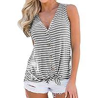 Geili Frauen Mode V-Ausschnitt Knopfleiste Baumwolle Weste Damen Freizeit Sexy ärmellose Tank Tops T-Shirt Bluse preisvergleich bei billige-tabletten.eu