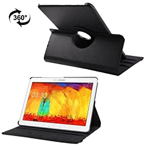 360 Gradi Rotatable Litchi Texture Leather Custodia Case Cover + Pennino in omaggio con 3-angle Viewing Holder per Samsung Galaxy Note & Tab Pro 12.2 / P900 (Black)