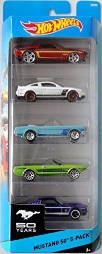 hot-wheels-mustang-50th-5-pack-69-ford-mustang-2010-ford-mustang-gt-65-mustang-63-mustang-ii-concept