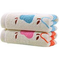 Yardwe Toallas de Mano de algodón Suave 2pcs Impresas con toallitas con patrón de Perlas (
