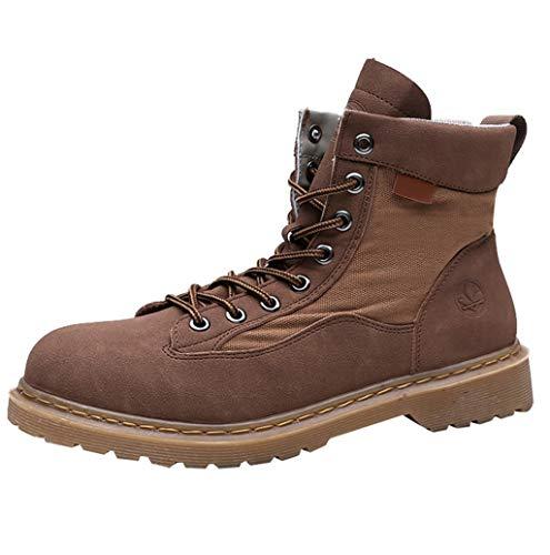 Herren Klassische Stiefel Premium Herren Schnür-Stiefelette Winter Waterproof Stiefel Sportschuhe Trekkingstiefel Atmungsaktive Boots Schuhe für Outdoor Camping Wandern Bergsteigen TWBB (Low Premium-skate)