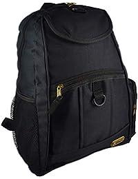 Hi Tec grande para hombre joven escuela mochila bolsa de viaje color negro