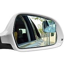 DEDC 2 Pezzi Specchietti per Angolo Morto Specchio Grandangolare a 360°Convesso Adesivo Specchio Retrovisore per Angolo Morto per Auto SUV Camion