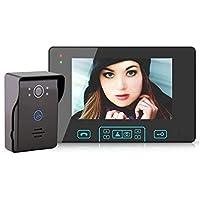 LLY 7 Pulgadas TFT-LCD de 2,4 GHz inalámbrico de vídeo Puerta del teléfono con la función de Tomar Fotos automáticamente, Alarma, visión Nocturna