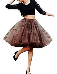 Imixcity Falda Tul Princesa Falda del Doble 50s Vendimia Traje Falda Disfraz Mujer Enagua Oscilación Tutú