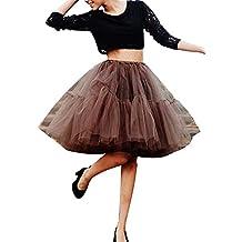 ... de la Falda del Doble 50s de la Vendimia Traje de Falda de Disfraz Mujer Enagua Oscilación Tutú Organza Falda de Ballet Pettiskirt Vestido de Rockabilly ...