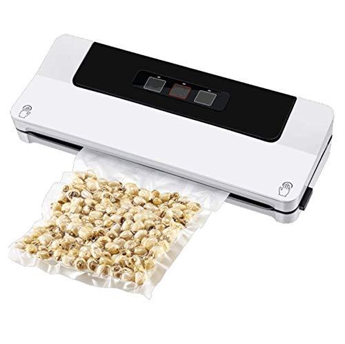 DiaoZhaTian Haushalts-Vakuumiergerät für die Lebensmittelkonservierung, kompakt, pflegeleicht, trocken und feucht, Sicherheitszertifikat, weiß