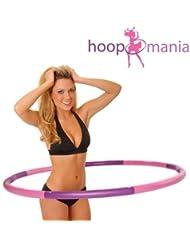 Hoopomania Hula Hoop Reifen mit Schaumstoff von 1,2 bis 2,0kg für schmerzempfindliche und Profis, milde Massage gegen Blaue Flecken