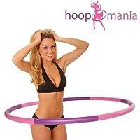 Hoopomania Light Hoop, Hula Hoop 1.2kg, Mehrfarbig(Pink, Violett)