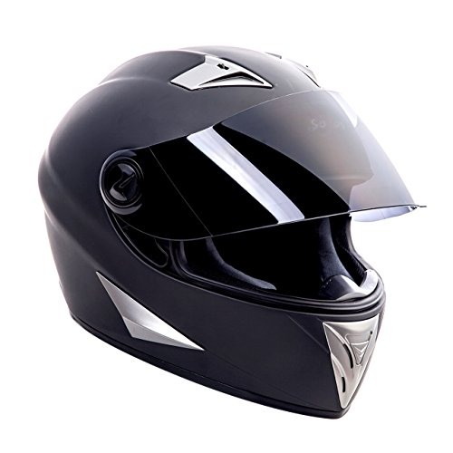SOXON ST-550 Fighter · Integral-Helm Scooter-Helm Urban Motorrad-Helm Roller-Helm Cruiser Sport Helmet Sturz-Helm · ECE zertifiziert · inkl. Sonnenvisier · inkl. Stofftragetasche · Schwarz · XS (53-54cm) - 2