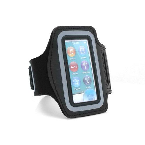 System-S Sportarmband Fitness Lauf Armband Neopren Tasche Hülle Cover Schutz Hülle Etui Case für iPod Nano 7