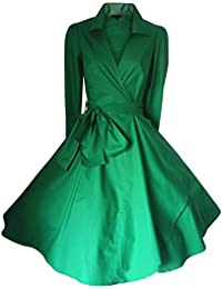 WintCO Vestido Retro Vestido Formal Abrigos Mujer Traje Mujer para Negocio Trabajo Vestido Vintage con Cinto