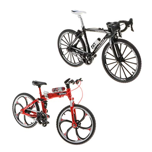 Toygogo Metall Mountainbike Skulptur Fahrrad Handwerk Handwerk Heimtextilien Möblierung 2er Pack