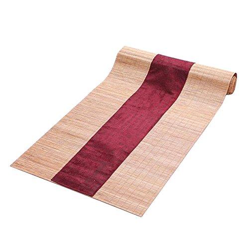 Japanischen Stil Tischdekoration Bambus Tischläufer Matte Tee Vorhänge-A5