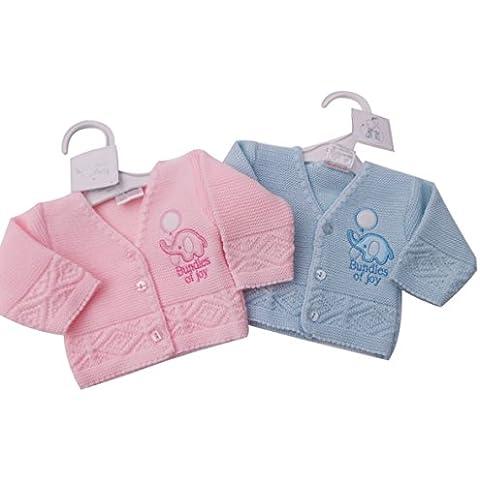 BNWT Baby Preemie prematuro ropa de rebeca de punto para elefante rosa o azul