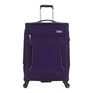 Antler Cyberlite II 4 Wheel Medium Expanding Rollercase Purple 2.9kg Koffer, 70 cm, 73 liters, Schwarz (Purple)