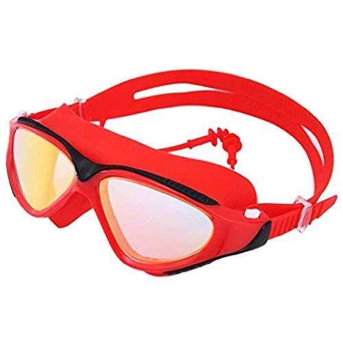 fyhtydsr Sommer Goggle Schwimmbrille Männer Frauen High Definition wasserdichte Flache Spiegel Gläser großen Rahmen Objektiv Brillen