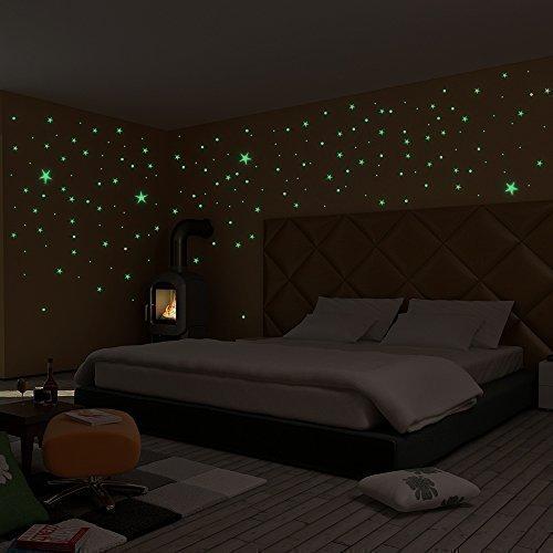 Rapid Teck® Sternenhimmel XL aus 365 Leuchtsterne und Leuchtpunkten mit extra starker Leuchtkraft und langer Leuchtzeit I selbstklebende Sterne | Leuchtaufkleber, fluoreszierende Wandsticker, Reflektor - Das Fluoreszierende Licht, Reflektoren