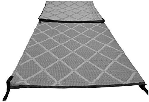 Preisvergleich Produktbild Paradise Vlies / Bodenvlies Vorzeltteppich 2, 5 m x 6 m gepolsterte stark gewebt – grau