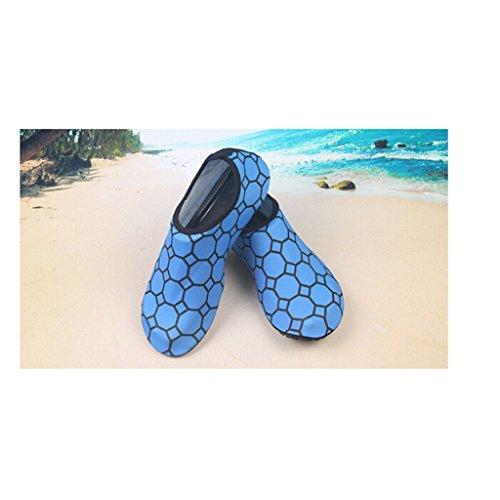 Eagsouni® Barfußschuhe Haut Schuhe Strandschuhe Aquaschuhe Badeschuhe Surfschuhe Wasserschuh Schwimmschuhe für Damen Herren Swim Yoga Surf Blau tHaxc