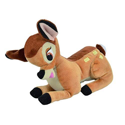 Peluche di bambi cerbiatto 20cm disney serie animal friends - ufficiale con ologramma