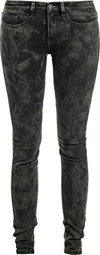 R.E.D. by EMP Sprayed Vicky (Skinny Fit) Jeans donna nero W31L34