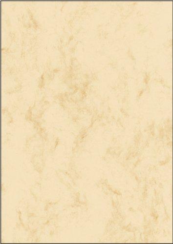 Sigel DP191 Marmorierter Karton / Papier beige, A4, 25 Blatt, Motiv beidseitig, 200 g - weitere Farben
