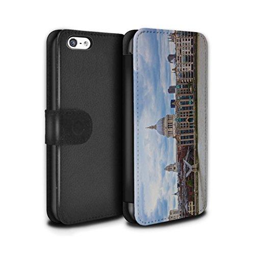 Stuff4 Coque/Etui/Housse Cuir PU Case/Cover pour Apple iPhone 5C / Tower Bridge Design / Sites Londres Collection Cathédrale Saint-Paul