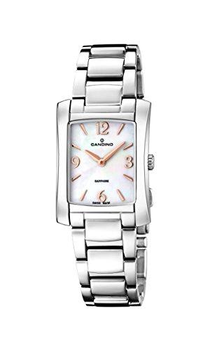 Candino-Orologio da donna al quarzo Con quadrante in madreperla, Display analogico e cinturino in acciaio INOX color argento/C4556 2